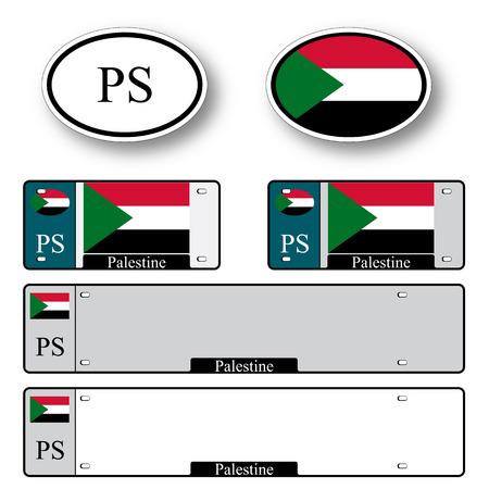palestine auto set against white background, abstract vector art illustration, image contains transparency Illusztráció