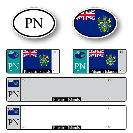 pitcairn: pitcairn islands auto set against white background, abstract vector art illustration, image contains transparency