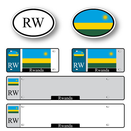 kigali: rwanda auto set against white background, abstract vector art illustration, image contains transparency Illustration