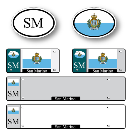 marino: san marino auto set against white background, abstract vector art illustration, image contains transparency
