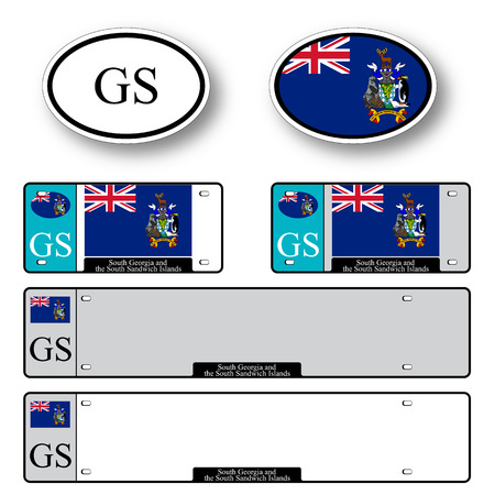 edward: south georgia and south sandwich islands auto set against white background, abstract vector art illustration, image contains transparency Illustration