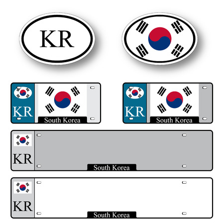 south korea auto set against white background, abstract vector art illustration, image contains transparency Vector