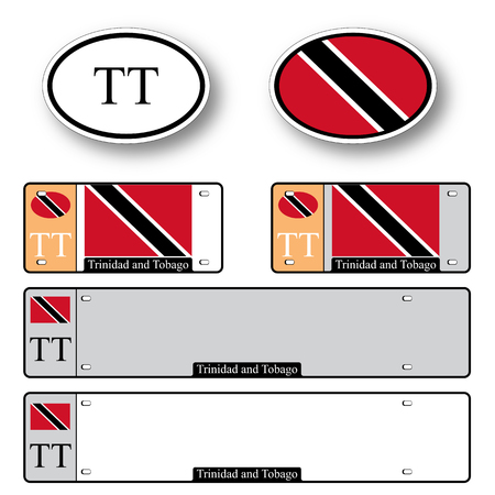 trinidad and tobago auto set against white background, abstract vector art illustration, image contains transparency Vector