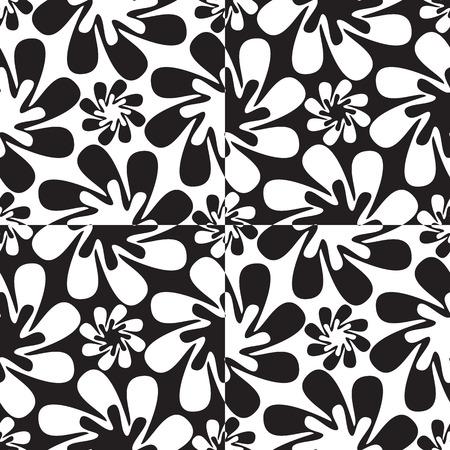 抽象的な花パターンの抽象的なテクスチャ  イラスト・ベクター素材