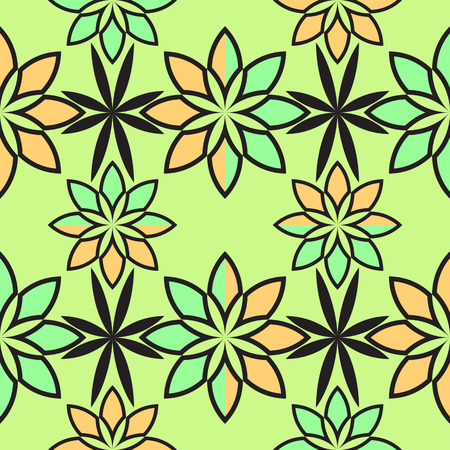 flowers geometric pattern abstract seamless texture 矢量图像