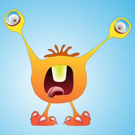 funny monster: funny monster abstract art illustration