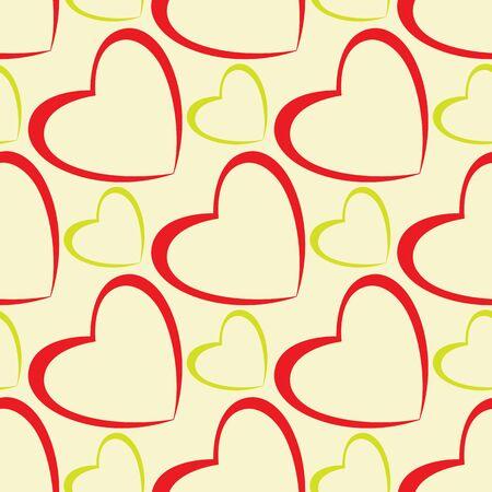 hearts pattern design abstract seamless texture Illustration