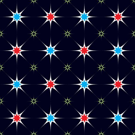 stars seamless pattern abstract texture Vector