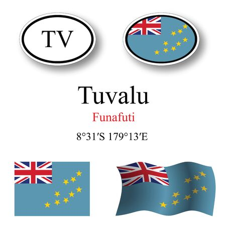 licence: tuvalu set against white background abstract vector art illustration image contains transparency Illustration