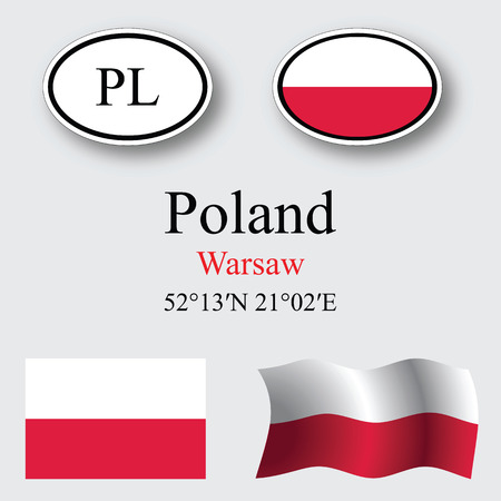 licence: poland icons set against gray background abstract vector art illustration image contains transparency