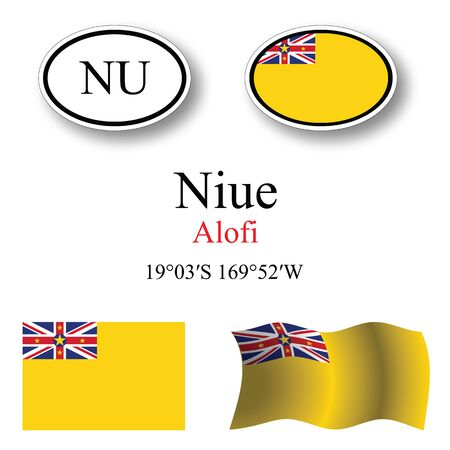 niue: niue icons set against white background abstract vector art illustration image contains transparency