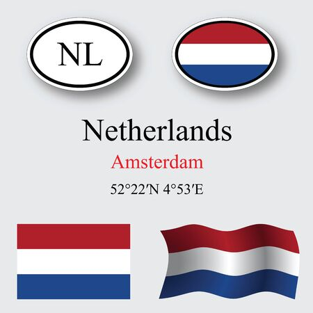 licence: netherlands icons set against gray background abstract vector art illustration image contains transparency