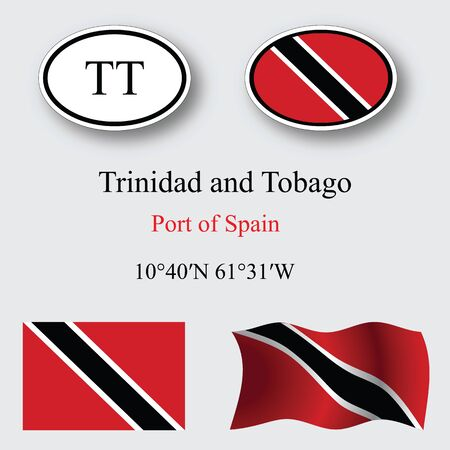 port of spain: trinidad and tobago set against gray background abstract vector art illustration image contains transparency Illustration