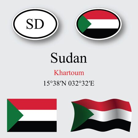 licence: sudan set against gray background abstract vector art illustration image contains transparency