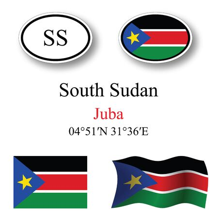 white background'abstract: south sudan icons set against white background abstract vector art illustration image contains transparency