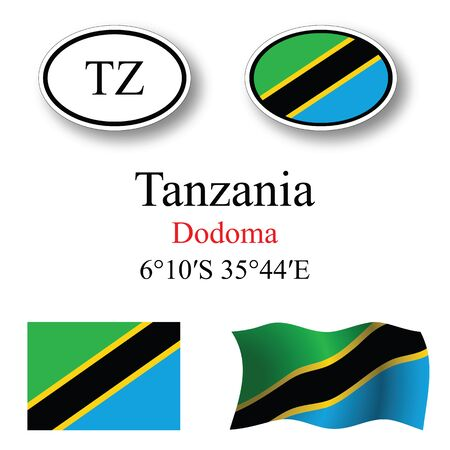 licence: tanzania set against white background abstract vector art illustration image contains transparency