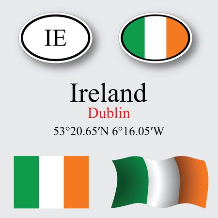 licence: ireland icons set against gray background abstract vector art illustration image contains transparency Illustration