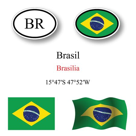 brasil: brasil icons set icons set against white background abstract vector art illustration image contains transparency