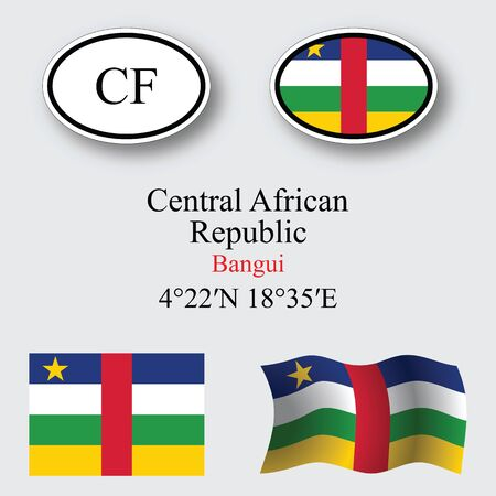 licence: central african republic icons set icons set against gray background abstract vector art illustration image contains transparency