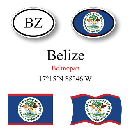 licence: belize icons set against white background abstract vector art illustration image contains transparency