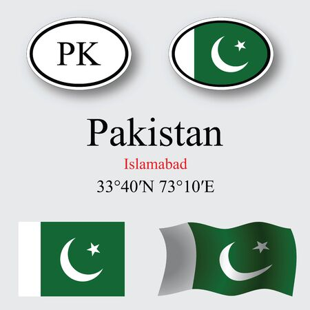 islamabad: pakistan icons set against gray background abstract vector art illustration image contains transparency Illustration