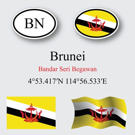 licence: brunei icons set icons set against gray background, abstract vector art illustration, image contains transparency