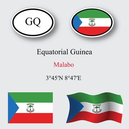 licence: equatorial guinea icons set against gray background, abstract vector art illustration, image contains transparency Illustration