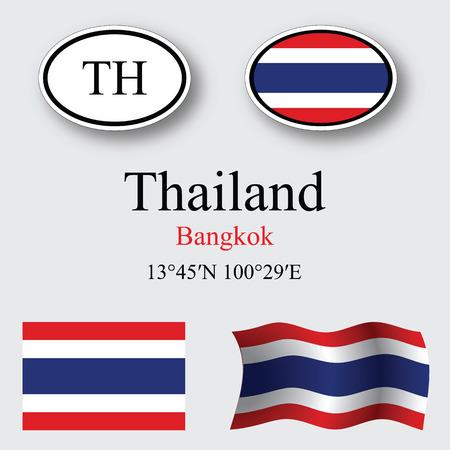 タイは抽象的なベクトル アート イラスト グレー背景設定、画像に透明が含まれています。