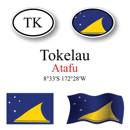 tokelau: tokelau set against white background, abstract vector art illustration, image contains transparency