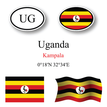 white background'abstract: uganda set against white background, abstract vector art illustration, image contains transparency Illustration