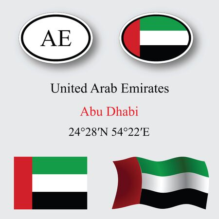 united arab emirates set against gray background, abstract vector art illustration, image contains transparency