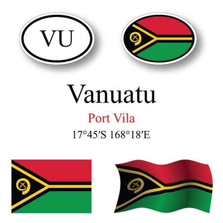 white background'abstract: vanuatu icons set against white background, abstract vector art illustration, image contains transparency