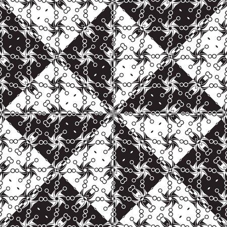 patron de circulos: black and white circles pattern, abstract seamless texture, vector art illustration