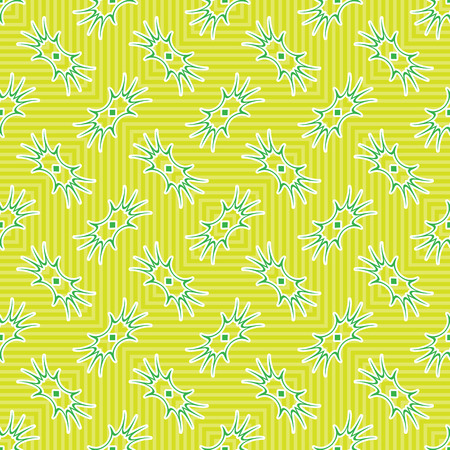 amoeba: green amoeba texture, abstract seamless pattern, vector art illustration Illustration