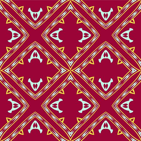 yukata: vibrant geometric pattern, abstract seamless texture, vector art illustration