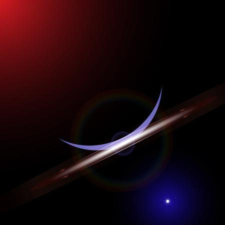 interstellar: interstellar travel or supernova starburst concept, abstract vector art illustration, image contains transparency