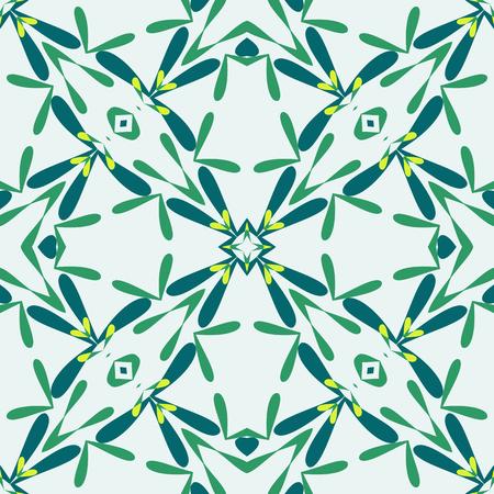 leafy: green leafy texture, abstract seamless pattern, vector art illustration Illustration