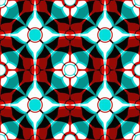 simmetrical modelo rojo azul, textura transparente abstracta, ilustración de arte vectorial