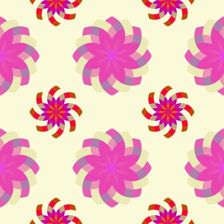 pinky: geometric pinky flowers pattern, abstract seamless texture, vector art illustration