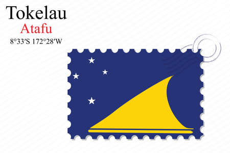 tokelau: tokelau stamp design over stripy background, abstract vector art illustration, image contains transparency