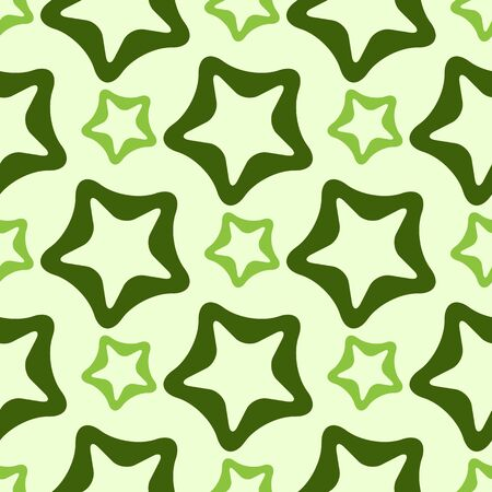 rounded: rounded stars pattern, abstract seamless texture, vector art illustration