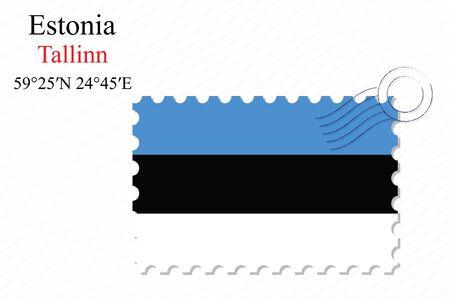 ストライプの背景、抽象的なベクトル アート イラスト上エストニア スタンプ デザイン イメージは、透明部分を含む