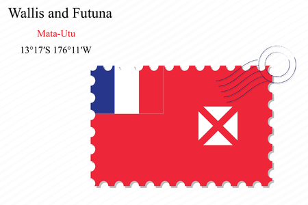 wallis: wallis and futuna stamp design over stripy background, abstract vector art illustration, image contains transparency