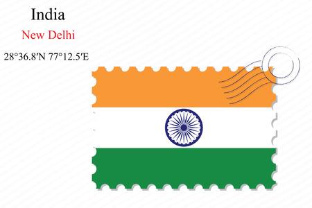 인도 스탬프 디자인 stripy 배경, 추상적 인 벡터 예술 일러스트 레이 션, 투명도를 포함하는 이미지 일러스트