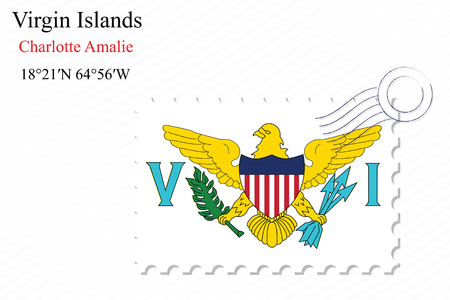 virgin islands: virgin islands stamp design over stripy background, abstract vector art illustration, image contains transparency