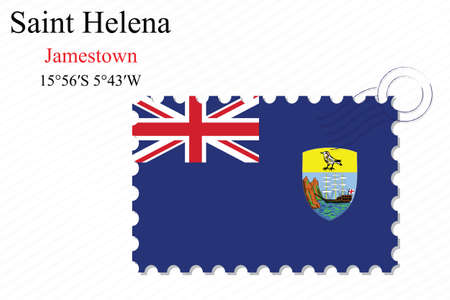 helena: saint helena stamp design over stripy background, abstract vector art illustration, image contains transparency