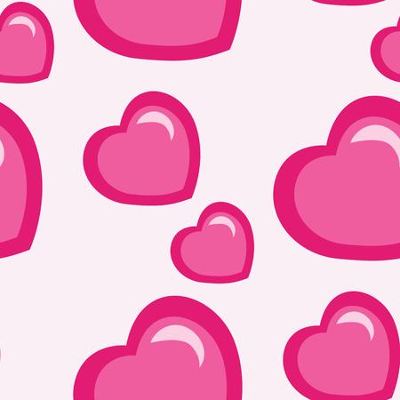 causal: valentines day pattern, abstract seamless texture, vector art illustration Illustration