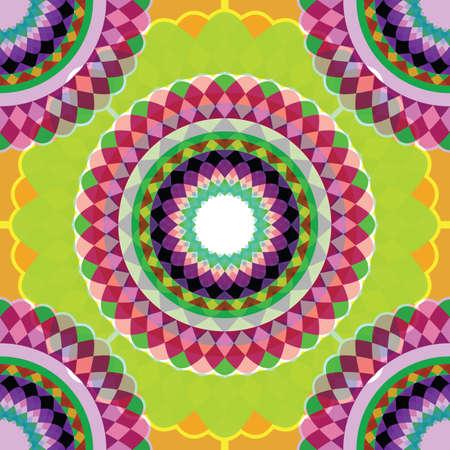 seamless geometric diamonds and circles texture, abstract pattern, vector art illustration