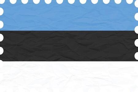 しわしわの紙エストニア スタンプ、抽象的なベクトル アート イラスト、画像に透明が含まれています。