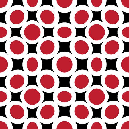 red circles abstract texture, seamless pattern, vector art illustration Illustration
